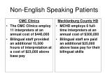 non english speaking patients