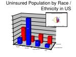 uninsured population by race ethnicity in us