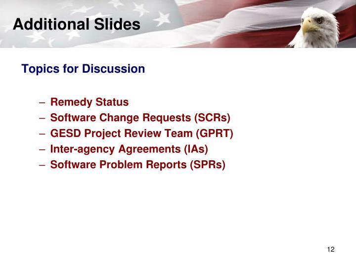 Additional Slides