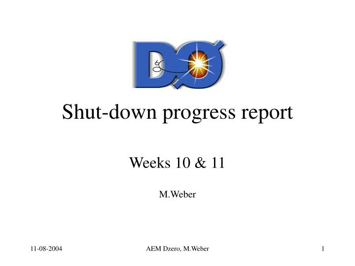shut down progress report n.
