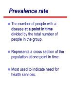 prevalence rate