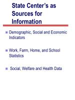 state center s as sources for information