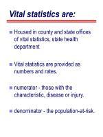 vital statistics are1