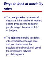 ways to look at mortality rates