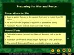 preparing for war and peace