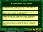 women in the new nation