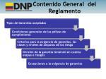 contenido general del reglamento