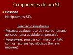 componentes de um si2