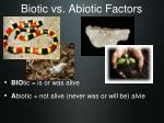 biotic vs abiotic factors