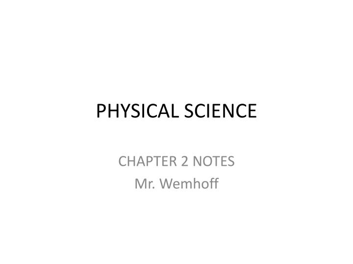physical science n.