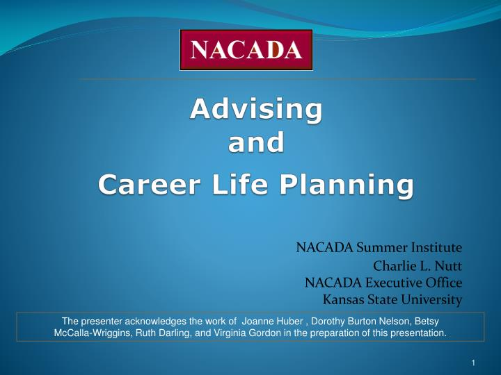advising and career life planning n.