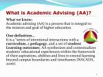 what is academic advising aa