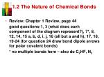 1 2 the nature of chemical bonds10
