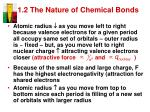 1 2 the nature of chemical bonds2