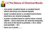 1 2 the nature of chemical bonds5