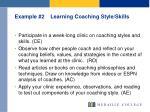 example 2 learning coaching style skills