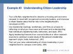 example 3 understanding citizen leadership