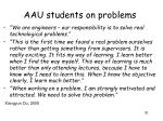 aau students on problems