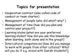 topics for presentation