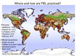 where and how are pbl practiced