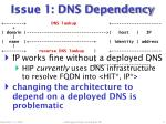 issue 1 dns dependency