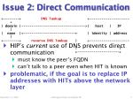 issue 2 direct communication