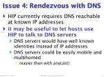 issue 4 rendezvous with dns