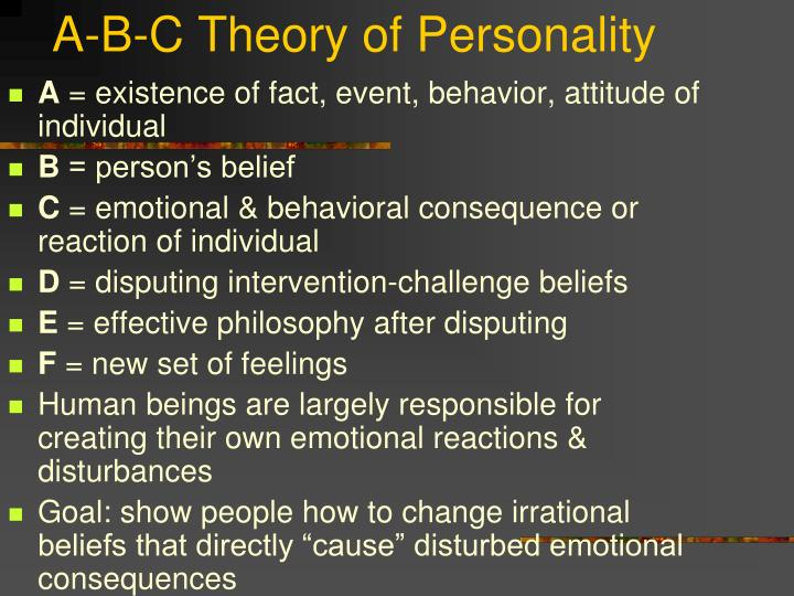 A-B-C Theory of Personality