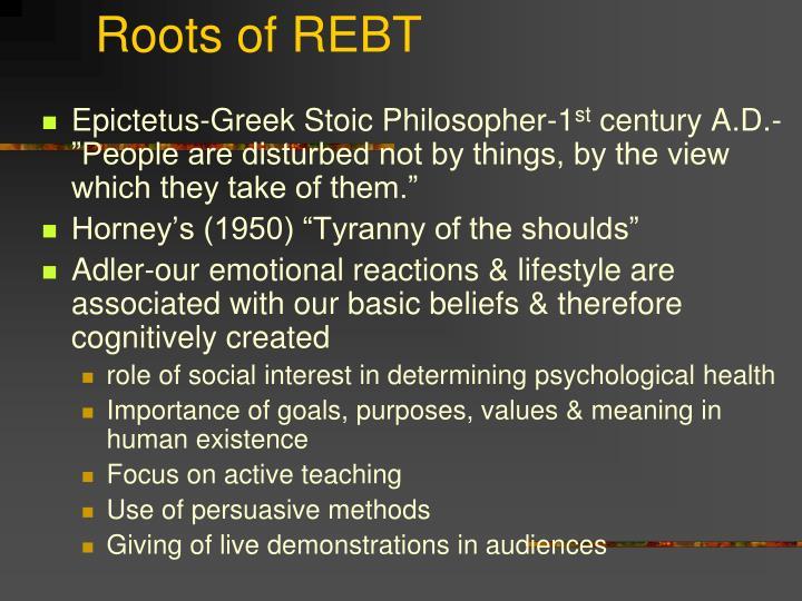 Roots of REBT