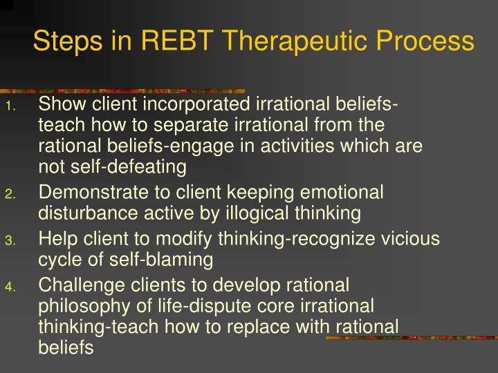 Steps in REBT Therapeutic Process