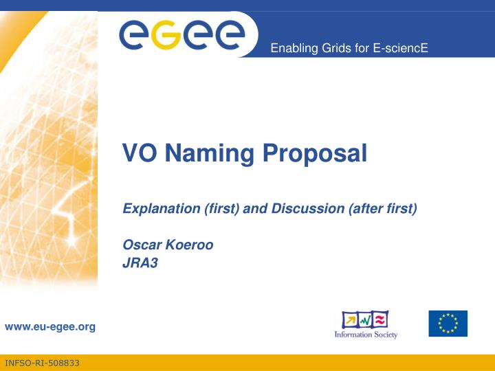 vo naming proposal n.
