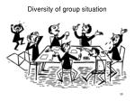 diversity of group situation