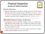 physical inspection section b safety checklist1
