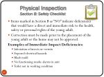 physical inspection section b safety checklist11