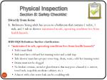 physical inspection section b safety checklist3