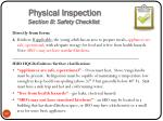 physical inspection section b safety checklist4