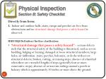 physical inspection section b safety checklist5
