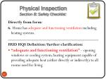 physical inspection section b safety checklist6