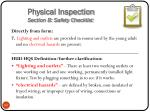 physical inspection section b safety checklist7