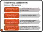 readiness assessment purpose components
