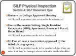 silp physical inspection section a silp placement type