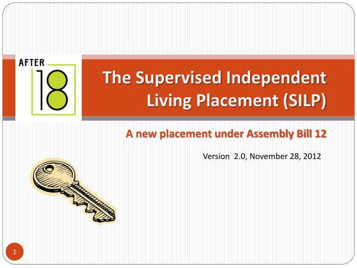 the supervised independent living placement silp n.