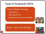 types of housing for silps