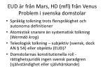 eud r fr n mars hd mfl fr n venus problem i svenska domstolar