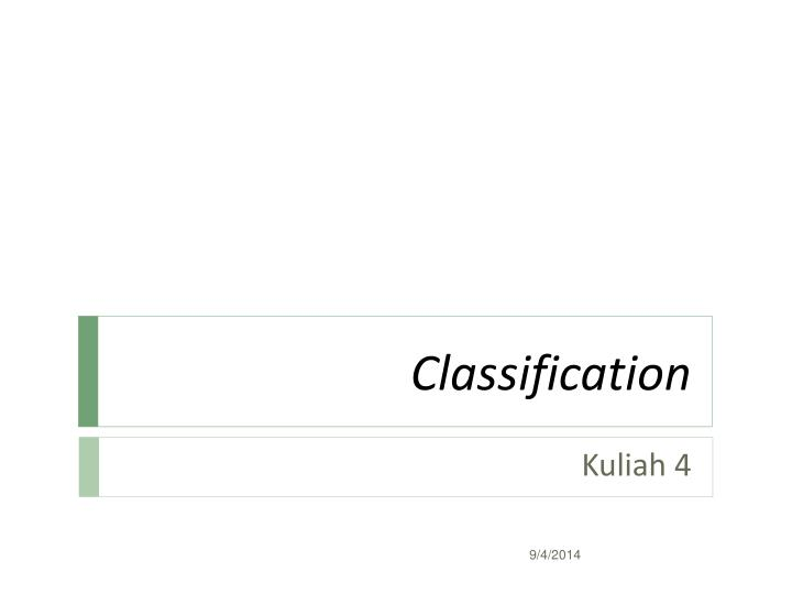 classification n.
