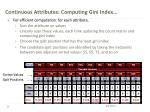 continuous attributes computing gini index1