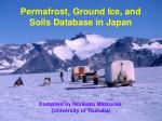 permafrost ground ice and soils database in japan