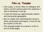 film vs theater