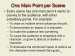 one main point per scene