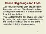 scene beginnings and ends